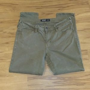 Just Black Army Green Ankle Zip Cropped Pants(29P)